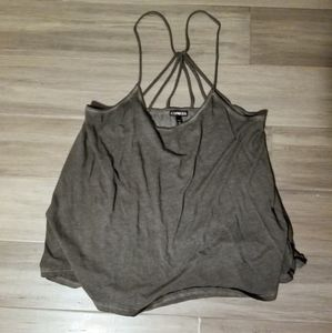 4for$20 Strappy gray distressed tank top